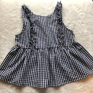 Zara checkered peplum tank top